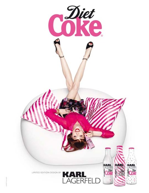 diet coke, karl lagerfeld diet coke,