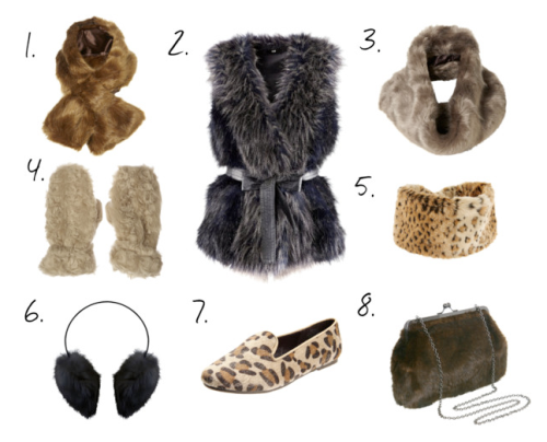 faux fur set