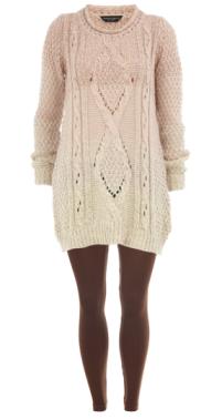 sweater dress and leggings