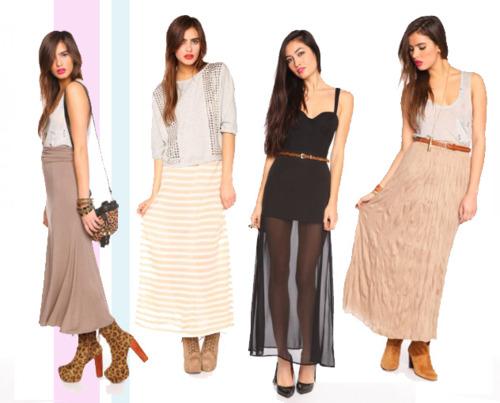 maxi skirt trend