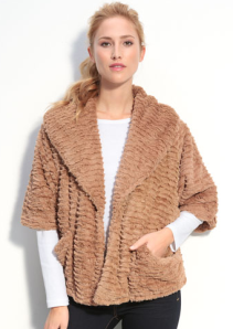 faux fur clutch coat